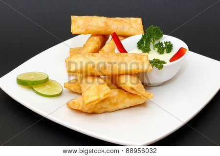 Peruvian appetizer Tequenos