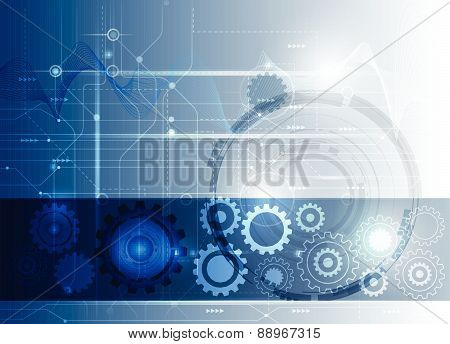 Vector Illustration Abstract Futuristic Circuit Board