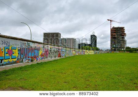 The Berlin Wall (Berliner Mauer) in Germany.