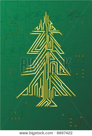 Christmas Tree Circuit - It Celebration Concept