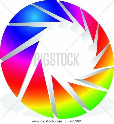 Camera Shutter With Aperture For Photography Concepts. Vector