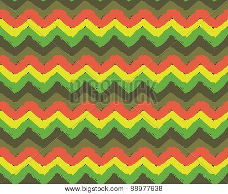 Rasta Zigzag Pattern