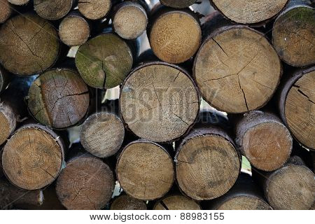 firewood stacks background