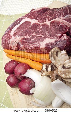 Pot Roast Dinner Preparation
