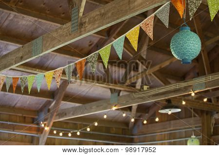 Celebration Bunting And Lantern Lights