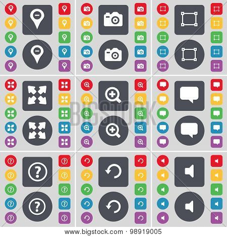 Checkpoint, Camera, Frame, Full Screen, Magnifing Glass, Chat Bubble, Question Mark, Reload, Sound I