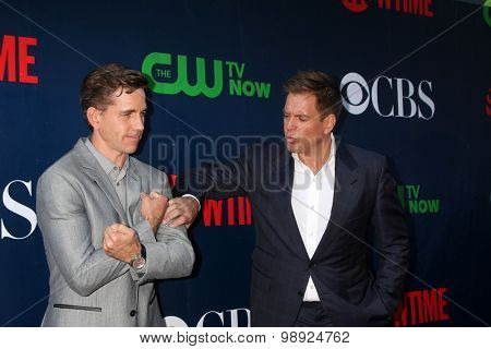 LOS ANGELES - AUG 10:  Brian Dietzen, Michael Weatherly at the CBS TCA Summer 2015 Party at the Pacific Design Center on August 10, 2015 in West Hollywood, CA