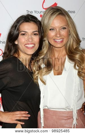 LOS ANGELES - AUG 15:  Sofia Pernas, Melissa Ordway at the