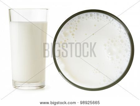 Milk glass side and top view