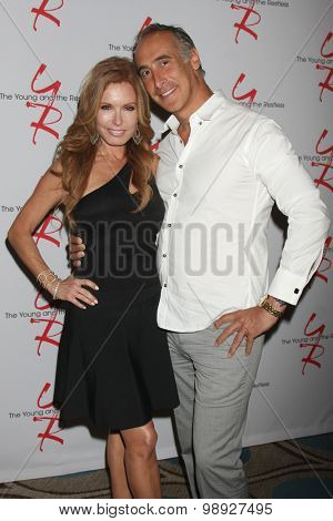 LOS ANGELES - AUG 15:  Tracey E. Bregman, Brian Landow at the