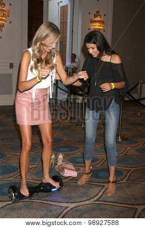 LOS ANGELES - AUG 15:  Melissa Ordway, Sofia Pernas at the