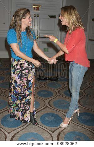 LOS ANGELES - AUG 15:  Melissa Claire Egan, Kelly Sullivan at the
