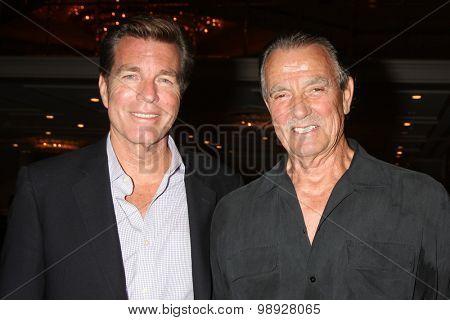 LOS ANGELES - AUG 15:  Peter Bergman, Eric Braeden at the