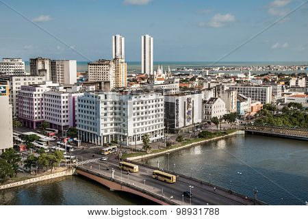 Aera View Of Recife City in Brazil