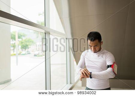 Checking pedometer