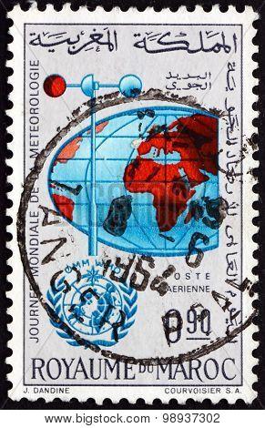 Postage Stamp Morocco 1964 Anemometer And Globe