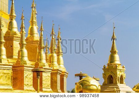 Golden Architecture With Sky