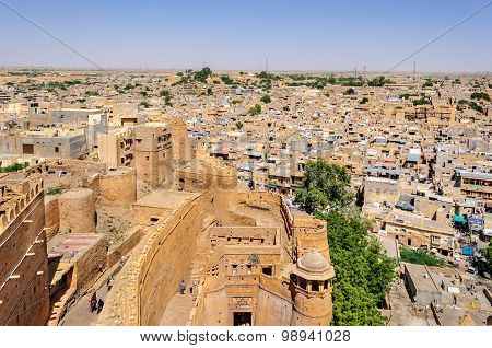 Birds Eye View Of Jaisalmer City From Golden Fort Of Jaisalmer,