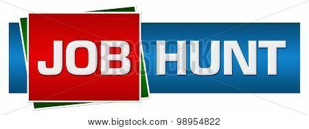 Job Hunt Red Blue Green Horizontal