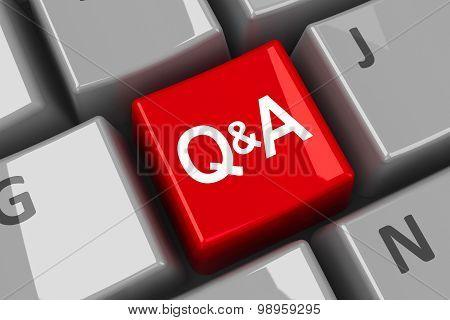 Computer Keyboard Q&a Key