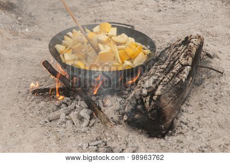 Food on the fire