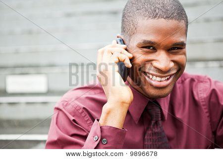 Black Businessman On The Phone