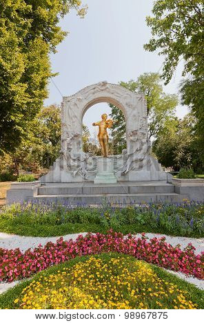 Monument For Johann Strauss (1921) In Vienna, Austria