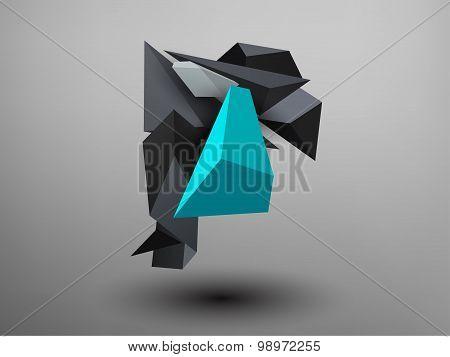 3D Prism Font - R