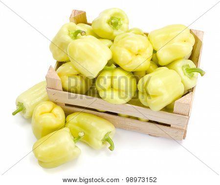 Yellow Bell Peppers (capsicum Annuum)