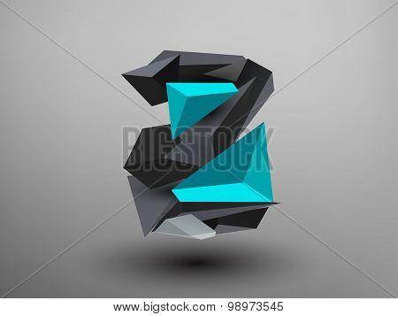 3D Prism Font - Z