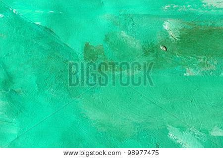 Abstract art. green background painted with watercolors