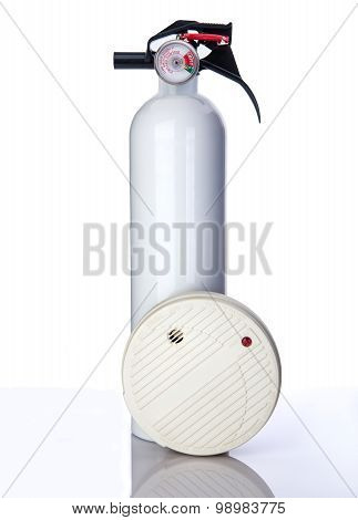Ceiling Smoke Detector And Extinguisher
