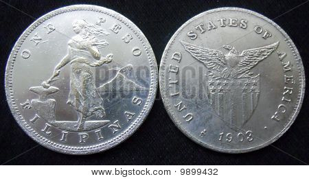1903 one peso coin