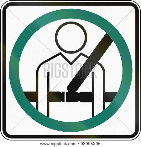 Seatbelt Usage Compulsory In Canada