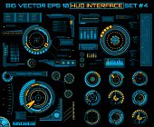 Abstract future, concept vector futuristic blue virtual graphic touch user interface HUD. For web, site, mobile applications isolated on black background, techno, online design, business, gui, ui. poster