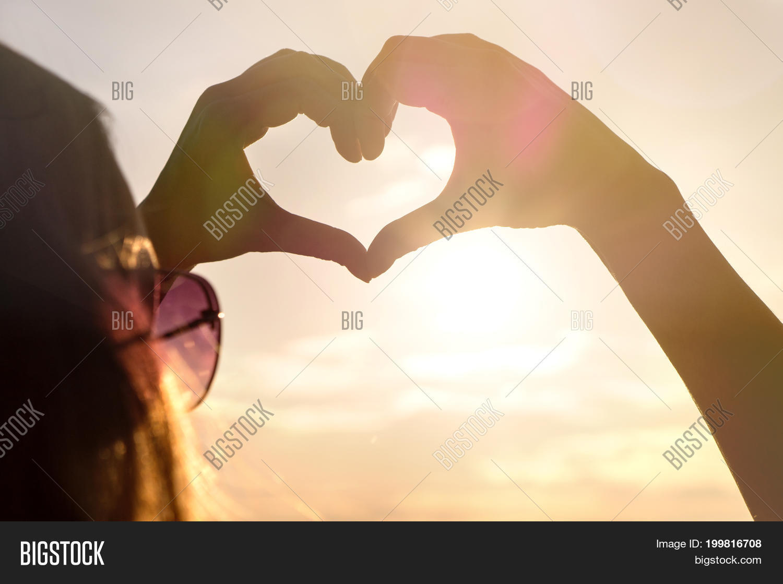 Woman Making Heart Image Photo Free Trial Bigstock