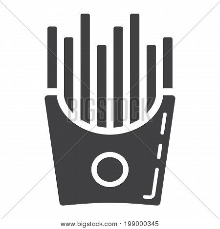 French fries glyph icon, food and drink, fast food sign vector graphics, a solid pattern on a white background, eps 10.