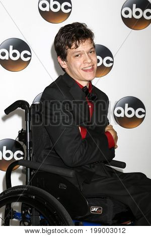 LOS ANGELES - AUG 6:  Micah Fowler at the ABC TCA Summer 2017 Party at the Beverly Hilton Hotel on August 6, 2017 in Beverly Hills, CA
