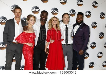 LOS ANGELES - AUG 6:  Josh Randall, Erika Christensen, A Akinnuoye-Agbaje, Kyra Sedgwick, Kick Gurry, M Warner at the ABC TCA Party at the Beverly Hilton Hotel on August 6, 2017 in Beverly Hills, CA