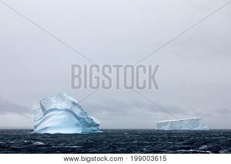 Beautiful iceberg or ice floe, Antarctic ocean, Antarctica