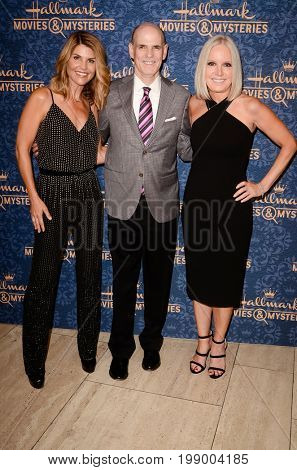 LOS ANGELES - AUG 1:  Lori Loughlin, William J. Abbott, Michelle Vicary at the