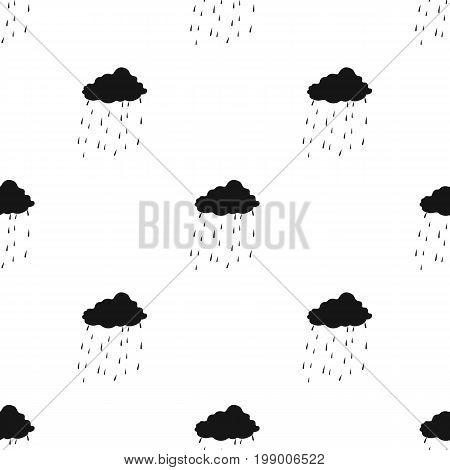 Scottish rainy weather icon in black design isolated on white background. Scotland country symbol stock vector illustration.