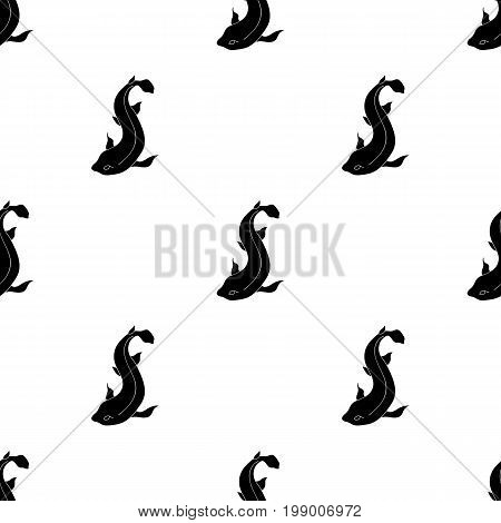 Catshark icon in black design isolated on white background. Sea animals symbol stock vector illustration.