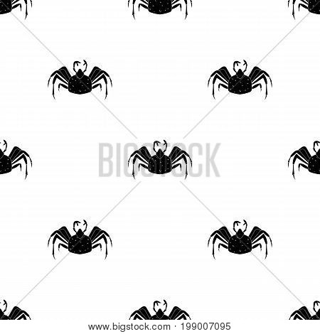 King crab icon in black design isolated on white background. Sea animals symbol stock vector illustration.