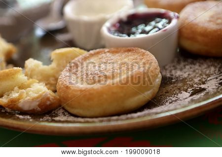 Fritters On Brown Plate