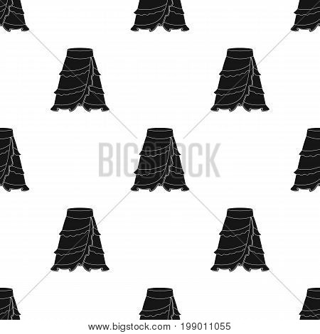 Flamenco skirt icon in black design isolated on white background. Spain country symbol stock vector illustration.