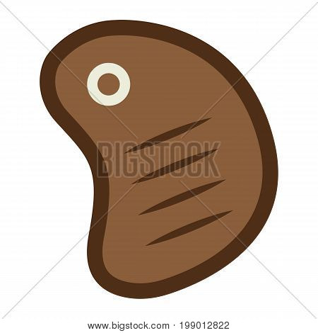 T bone beef steak flat icon, food and drink, barbecue sign vector graphics, a colorful solid pattern on a white background, eps 10.