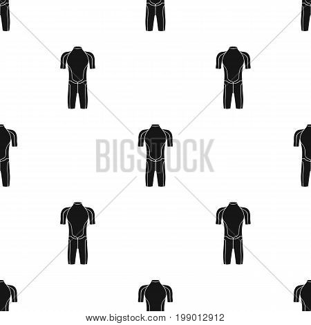 Wetsuit icon in black design isolated on white background. Surfing symbol stock vector illustration.