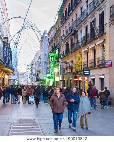 Madrid Shopping Street, Spain