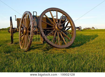Cart On Manassas Battlefield